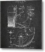Ludwig Foot Pedal Patent Drawing From 1909 - Dark Metal Print