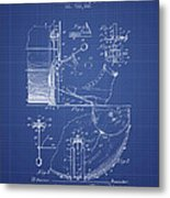 Ludwig Foot Pedal Patent From 1909 - Blueprint Metal Print