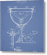 Ludwig Kettle Drum Drum Patent Drawing From 1941 - Light Blue Metal Print