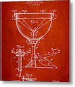 Ludwig Kettle Drum Drum Patent Drawing From 1941 - Red Metal Print