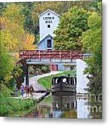 Ludwig Mill And Canal Boat  1480 Metal Print