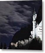 Ludwig's Castle At Night Metal Print