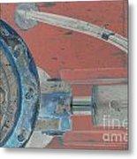 Lug Nut Wheel Left  Metal Print