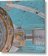 Lug Nut Wheel Left Turquoise And Copper Metal Print