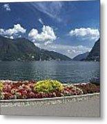 Lugano By Lago Di Lugano Metal Print