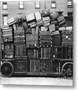 Luggage Cart At Train Station, 1910s Metal Print