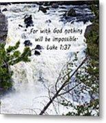 Luke 1 37  Metal Print