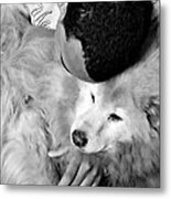 Luke And Little Bear Metal Print by Sarah Loft