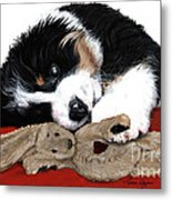 Lullaby Berner And Bunny Metal Print by Liane Weyers