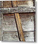 Lumber Work On The Side Of Old Cabin Metal Print