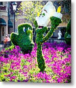 Lumiere And Chip Metal Print