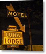 Luna Lodge Night Metal Print