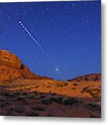 Lunar Eclipse Sequence From Monument Metal Print