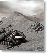 Lunar Vehicle In Distress Metal Print
