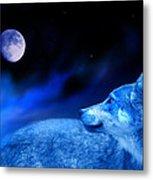 Lunar Wolf 2 Metal Print