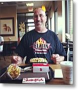Lunch At Chick-fil-a With The Poppy Metal Print