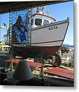Lunch At Griffs On The Coast Metal Print