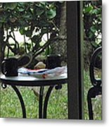 Lunch Guests Al Fresco Metal Print