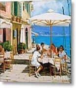 Lunch In Portofino Metal Print by Michael Swanson