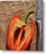 Lunch With Salvadore Dali Metal Print