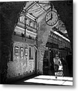 Lunchtime At Chelsea Market Metal Print by Rona Black
