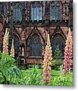 Lupines At Chester Cathedral 6805 Metal Print