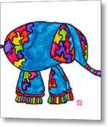 Lupita Elephant Metal Print
