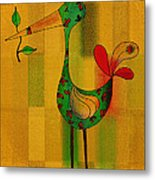 Lutgarde's Bird - 061109106-wyel Metal Print by Variance Collections