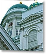 Lutheran Cathedral Of Helsinki-finland Metal Print