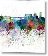 Luxembourg Skyline In Watercolor On White Background Metal Print