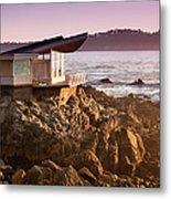 Luxury Home Overlooks The Big Sur Metal Print
