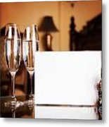 Luxury Hotel Room Metal Print
