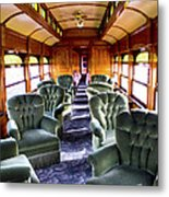 Luxury Lounge Car Of Early Railroading Metal Print