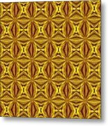 Luxury Red And Gold Christmas Kaleidoscope Metal Print