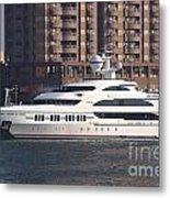 Luxury Yacht Visits Kaohsiung Port Metal Print