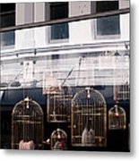 Lv Gilded Cage Bags Metal Print