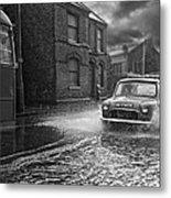 Lye Rain Storm, Morris Mini Car - 1960's    Ref-246 Metal Print