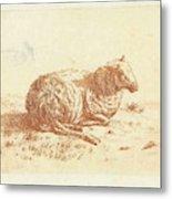 Lying Sheep, Ernst Willem Jan Bagelaar Metal Print