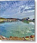 Lyme Regis Harbour -- Painterly Metal Print
