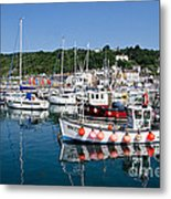Lyme Regis Harbour On A July Morning Metal Print