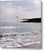 Lyme Regis Seascape - March Metal Print