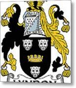 Lyndon Coat Of Arms Irish Metal Print