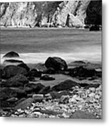 Lynton And Lynmouth Coast Metal Print by Lesley Rigg