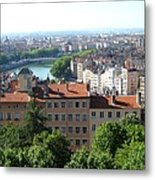 Lyon From Above Metal Print