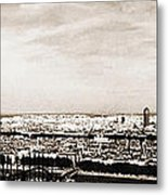 Lyon From The Basilique De Fourviere Metal Print