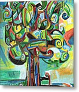 Lyrical Tree Metal Print