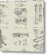 M-16 Military Rifle Patent Collection Metal Print