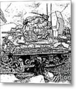 M 4 Sherman Break Out From Normandy Metal Print