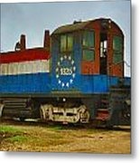 M A Patout Sugar Mill Train Metal Print