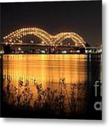 The Hernando De Soto Bridge M Bridge Or Dolly Parton Bridge Memphis Tn  Metal Print